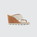 Womens Dolce Vita Lida Cork Wedge Sandal in White - Brother's on the Boulevard