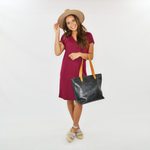 Womens Lilla P. Lightweight Double V-Neck Dress in Summer Plum - Brother's on the Boulevard