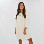Lilla P. Split Neck Dress in Sand