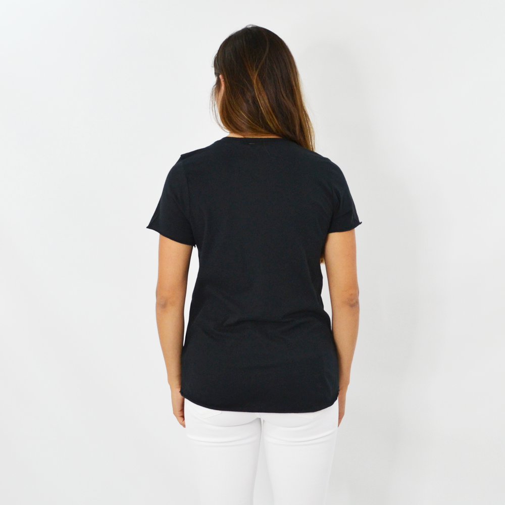Womens Rouge Late Night Snack Graphic Tee in Black - Brother's on the Boulevard