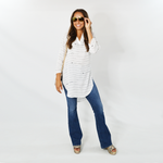Womens Nic + Zoe Beach Cruiser Tunic in Paper White - Brother's on the Boulevard