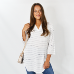 Nic + Zoe Beach Cruiser Tunic in Paper White