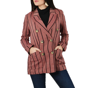 Womens NYLA Double Breast Blazer in Mauve - Brother's on the Boulevard
