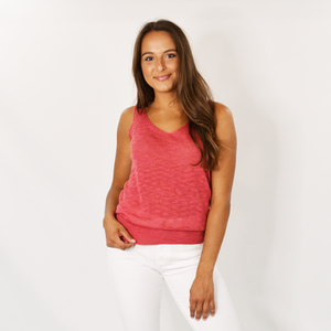 Womens Michael Stars Katrina V-Neck Tank in Azalea - Brother's on the Boulevard