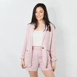 Michael Stars Linen Blazer in Whisper