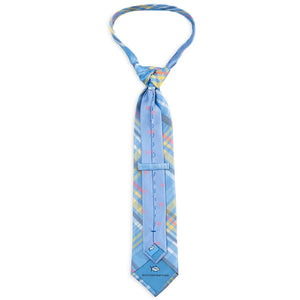 Mens Southern Tide Madras Plaid Necktie in Sky - Brother's on the Boulevard