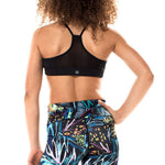 Tween Girls Miss Behave Girls Maggie Tropical Sports Bra in Black and Multi - Brother's on the Boulevard