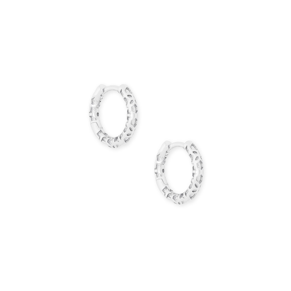 Womens Kendra Scott Maggie Huggie Earrings In Silver Filigree - Brother's on the Boulevard