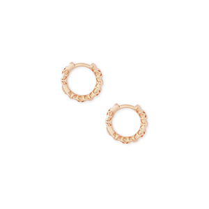 Womens Kendra Scott Maggie Huggie Earrings In Rose Gold Filigree - Brother's on the Boulevard