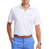 Vineyard Vines Marshall Solid Pique Polo in White Cap