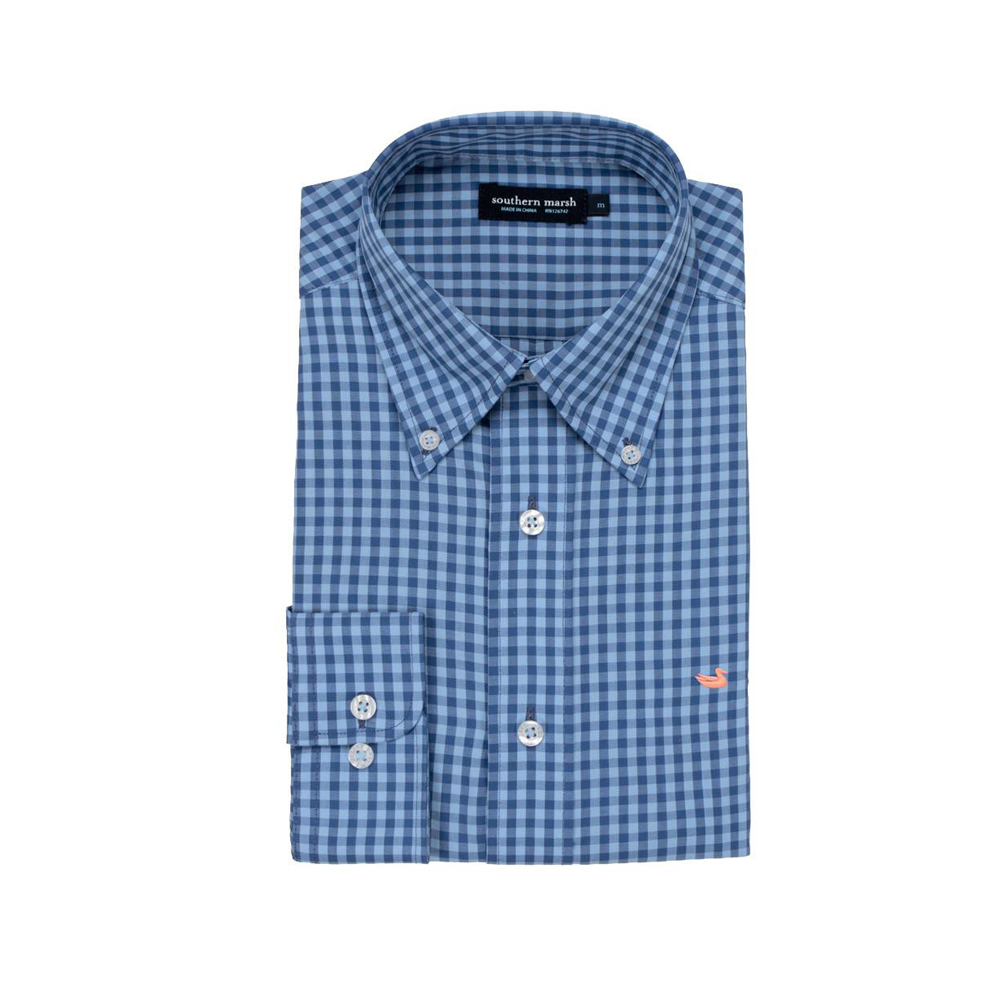 Mens Southern Marsh Memphis Gingham Dress Shirt in Royal Blue - Brother's on the Boulevard