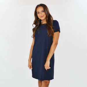 Womens Michael Stars Hannah Tee Dress in Admiral - Brother's on the Boulevard