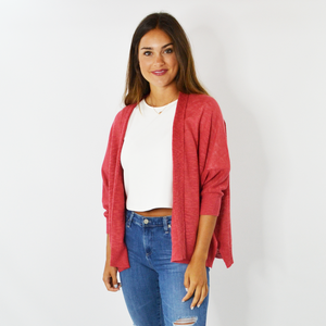 Womens Michael Stars Jullian Cardigan in Azalea - Brother's on the Boulevard