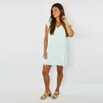 Womens Three Eighty Two Averie Ruffled Mini Dress in Mint - Brother's on the Boulevard