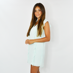 Three Eighty Two Averie Ruffled Mini Dress in Mint
