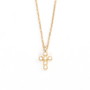Womens Joy Dravecky Cross Charm Necklace in Gold - Brother's on the Boulevard