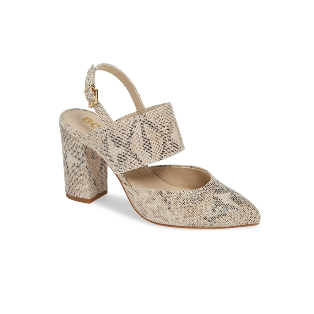 BC Footwear by Seychelles Value Exotic Heel in Natural