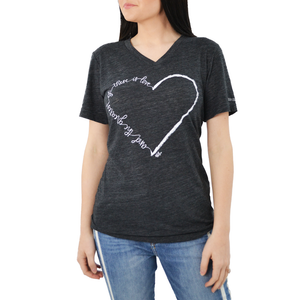 "Womens Brother's ""Greatest is Love"" Tee in Grey - Brother's on the Boulevard"