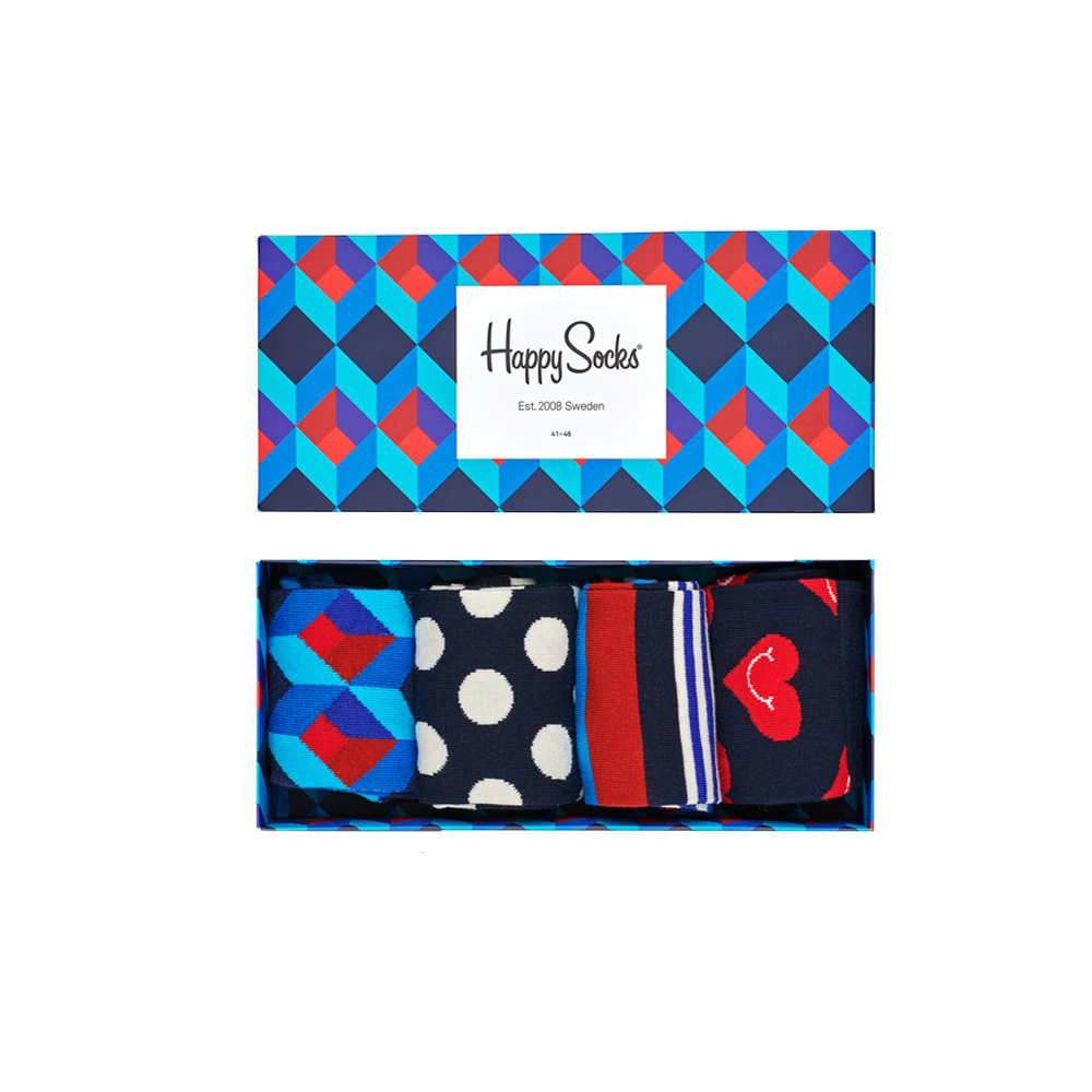 Happy Socks Nautical Socks Gift Box in Blue Combo