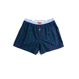 Mens Southern Marsh Tartan Boxer in Navy/Green - Brother's on the Boulevard