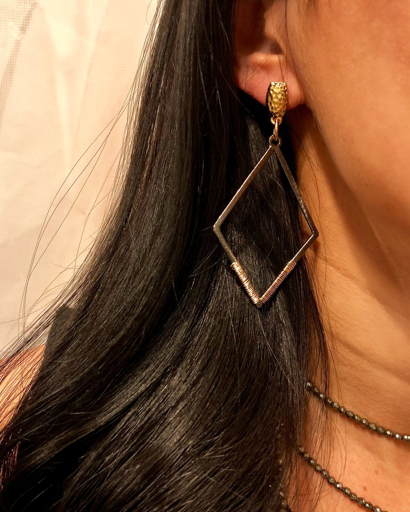 Womens Nicole Leigh Charlie Drop Earring in Gold Post - Brother's on the Boulevard