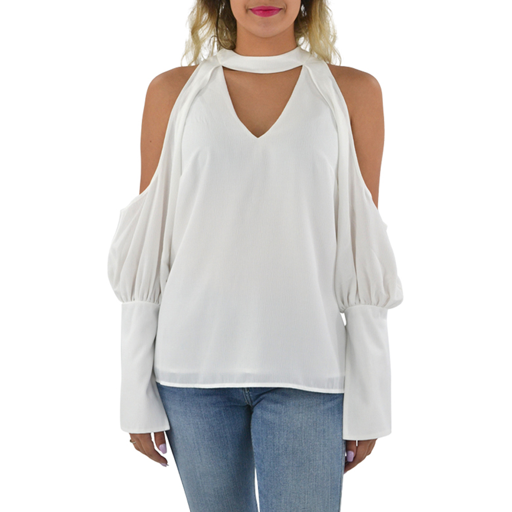 C/meo Long Sleeve No Reason Top in Ivory