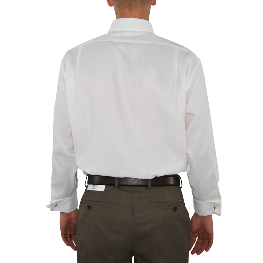 Mens Brother's on the Boulevard French Cuff Dress Shirt in White - Brother's on the Boulevard