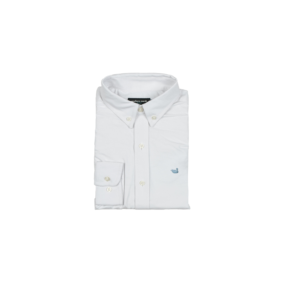 Boys Southern Marsh Youth Pintail Oxford Dress Shirt in White - Brother's on the Boulevard