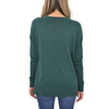 Womens Lilla P. Dropped Shoulder Split Neck Top in Evergreen - Brother's on the Boulevard