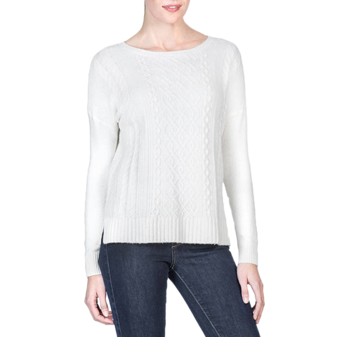 Lilla P. Long Knit Sweater in Starch