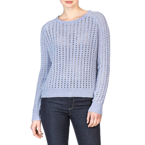 Lilla P. Open Stitch Sweater in Thistle