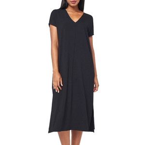 Womens Lilla P Double V-Neck Maxi Dress in Black - Brother's on the Boulevard