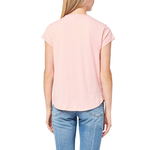 Womens Lilla P Short Sleeve V-Neck Top in Coral - Brother's on the Boulevard