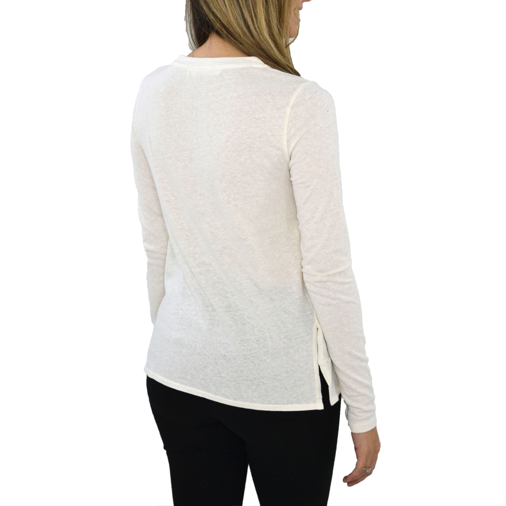 Womens Poche 1913 Mia Long Sleeve Knit Top in Cream - Brother's on the Boulevard