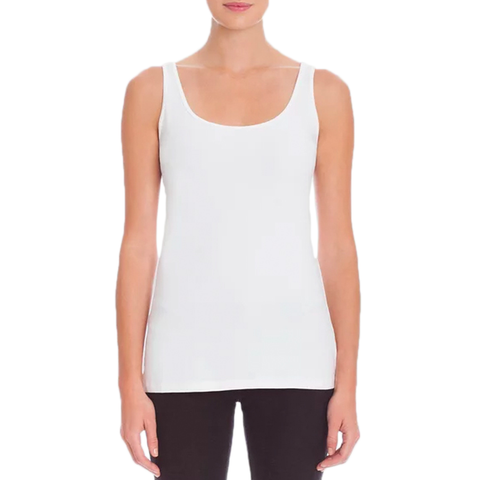 Womens Nic + Zoe Perfect Scoop Long Tank in White - Brother's on the Boulevard