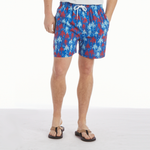 Southern Proper Southern Swim Trunks in Palmetto Fireworks