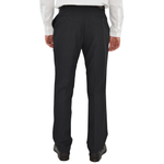 Mens Chiari Un-Hemmed Flat Front Dress Pant in Charcoal - Brother's on the Boulevard