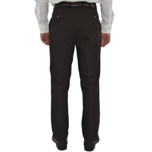 Mens Chiari Un-Hemmed Flat Front Dress Pant in Dark Brown - Brother's on the Boulevard