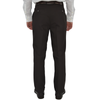Chiari Un-Hemmed Flat Front Dress Pant in Dark Brown