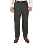 Chiari Un-Hemmed Pleated Dress Pant in Olive