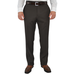G. Manzoni Un-Hemmed Flat Front Dress Pant in Chocolate