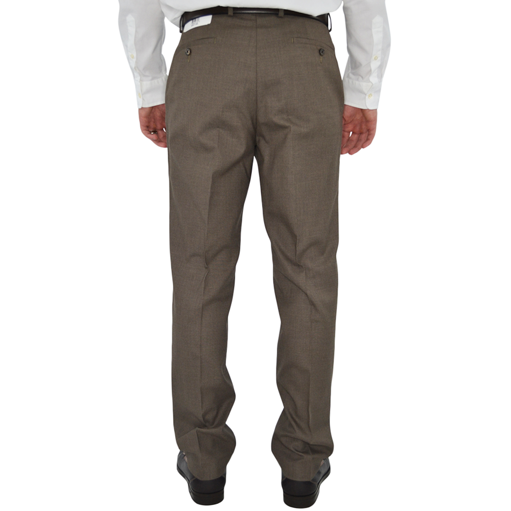 Mens Michael Kors Flat Front Hemmed Dress Pant in Brown - Brother's on the Boulevard