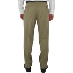 Mens G. Manzoni Un-Hemmed Flat Front Dress Pant in Taupe - Brother's on the Boulevard