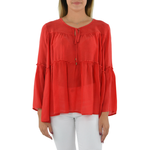 NYLA Peasant Top in Red