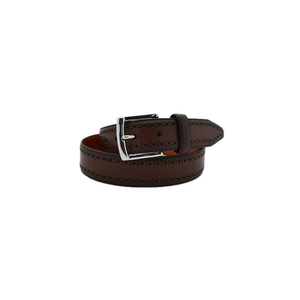 Mens Johnston & Murphy Perfed Edge Belt in Mahogany - Brother's on the Boulevard