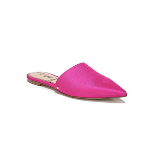 Womens Sam Edleman Rumi Pointed Toe Mule in Deep Pink Silk - Brother's on the Boulevard