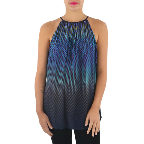 Fifteen Twenty Sleeveless High Neck Top in Print
