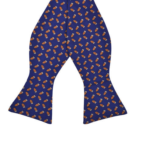 Mens Southern Proper Quail Feather Bow Tie in Navy - Brother's on the Boulevard