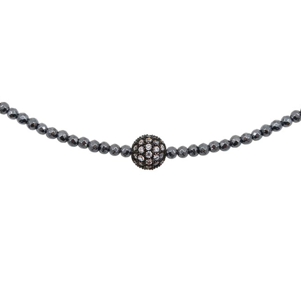 Womens Nicole Leigh Avery Hematite Choker Necklace in Gunmetal - Brother's on the Boulevard