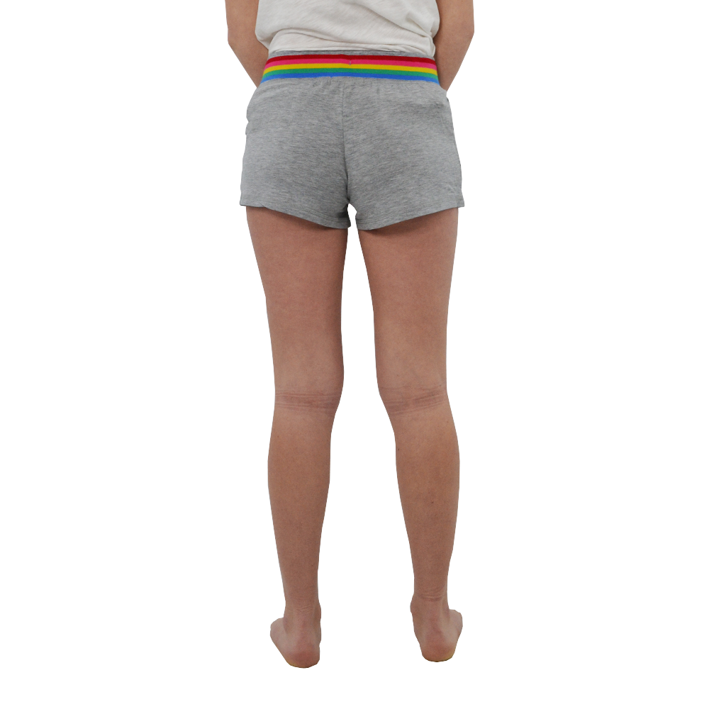 Womens PJ Salvage Rainbow Lounge Shorts in Heather Grey - Brother's on the Boulevard
